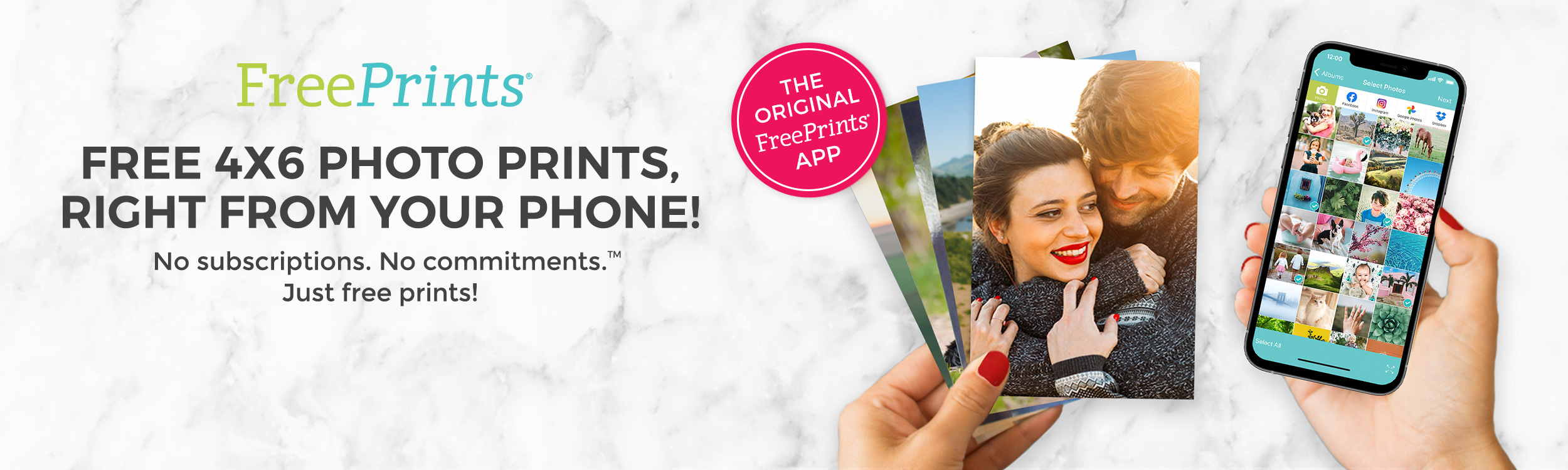Free 4x6 Photo Prints, Right from your phone!